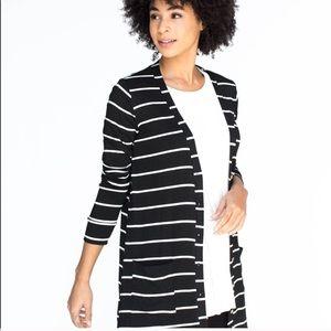 ***New*** Favorite Cardi Black and White Stripe